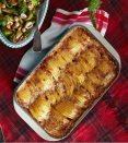 "<p>Is the best part of this dish the combo of Gruyère and Parm, the fresh herbs, or the generous amount of heavy cream? We'll forgive you if it takes you several big bites to decide. Keep slices even by using a mandoline.</p><p><strong><a href=""https://www.countryliving.com/food-drinks/a29626417/hasselback-potato-gratin-recipe/"" rel=""nofollow noopener"" target=""_blank"" data-ylk=""slk:Get the recipe"" class=""link rapid-noclick-resp"">Get the recipe</a>.</strong></p><p><strong><a class=""link rapid-noclick-resp"" href=""https://www.amazon.com/slicer/dp/B07QKHTM11/?tag=syn-yahoo-20&ascsubtag=%5Bartid%7C10050.g.1050%5Bsrc%7Cyahoo-us"" rel=""nofollow noopener"" target=""_blank"" data-ylk=""slk:SHOP MANDOLINES"">SHOP MANDOLINES</a><br></strong></p>"