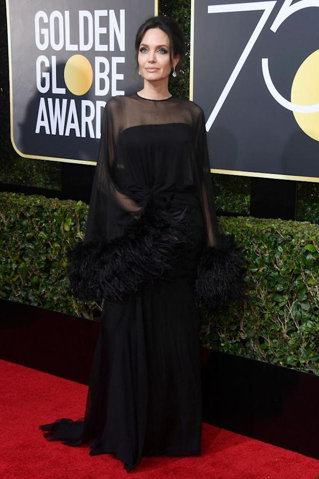 <p>Angelina Jolie, a presenter, attends the 75th Annual Golden Globe Awards at the Beverly Hilton Hotel in Beverly Hills, Calif., on Jan. 7, 2018. (Photo: Steve Granitz/WireImag </p>
