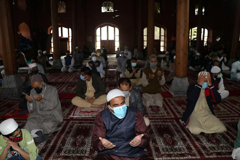 Eid celebrations in Jammu and Kashmir, were a low-key affair in view of the pandemic. Police, at many places, asked the mosque management committees not to use loudspeakers and to conclude the prayers quickly.