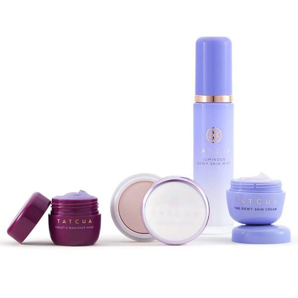 "$65, Tatcha. <a href=""https://www.sephora.com/product/tatcha-skincare-for-makeup-dewy-glow-set-P447613"">Get it now!</a>"