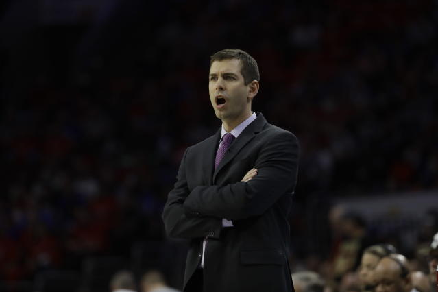 Brad Stevens received exactly zero votes for coach of the year by his NBA coaching peers, prompting former players to sing his accolades. (AP Photo)