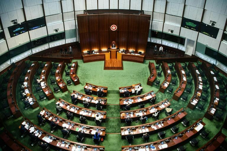 Hong Kong's leader is chosen by pro-Beijing committees, but half of its legislature's 70 seats are directly elected