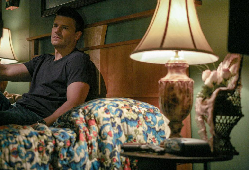 """Booth (David Boreanaz) is cautious when he arranges to meet up with Brennan (Emily Deschanel) in """"The Future in the Past,"""" the Season 8 premiere episode of """"Bones."""""""