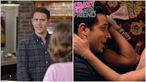"<p><em>Crazy Ex-Girlfriend</em> actually managed to pull off this casting change pretty seamlessly. Greg originally left the show when his relationship with Rebecca blew up, which coincided with actor Santino Fontana returning to theater work. The show then <a href=""https://www.vox.com/culture/2018/12/12/18136420/crazy-ex-girlfriend-season-4-episode-8-im-not-the-person-i-used-to-be-recap-greg-recast"" rel=""nofollow noopener"" target=""_blank"" data-ylk=""slk:brought Greg back"" class=""link rapid-noclick-resp"">brought Greg back</a>—only this time he was played by Skylar Astin and the show built in a whole meta arc about how perceptions change over time. Santino was into the recasting, telling <em><a href=""http://www.vulture.com/2018/08/santino-fontana-talks-skylar-astin-replacing-him-on-crazy-ex.html"" rel=""nofollow noopener"" target=""_blank"" data-ylk=""slk:Vulture"" class=""link rapid-noclick-resp"">Vulture</a>,</em> ""I love Skylar! He's a buddy of mine. We've been texting, we've got a whole back-and-forth going. We're brothers from the same mother. That's what I'm calling it. Brothers from the same mother.""</p>"