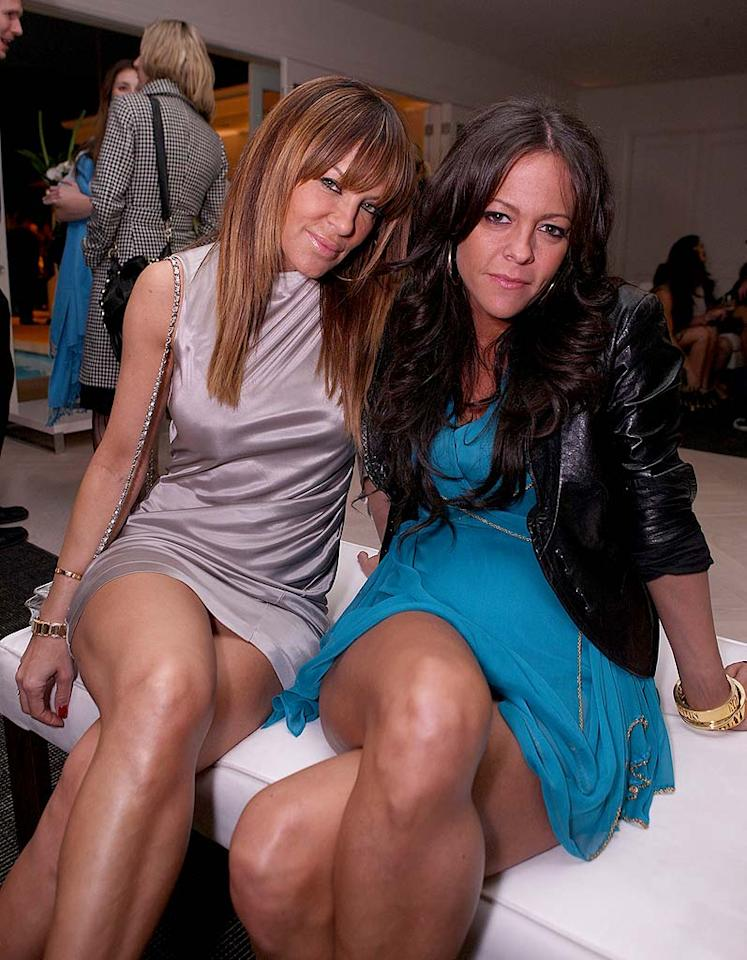 "Despite their short hemlines, Pussycat Dolls founder Robin Antin and nightclub promoter Allison Melnick keep things (thankfully) dignified. Chris Weeks/<a href=""http://www.wireimage.com"" target=""new"">WireImage.com</a> - March 20, 2008"