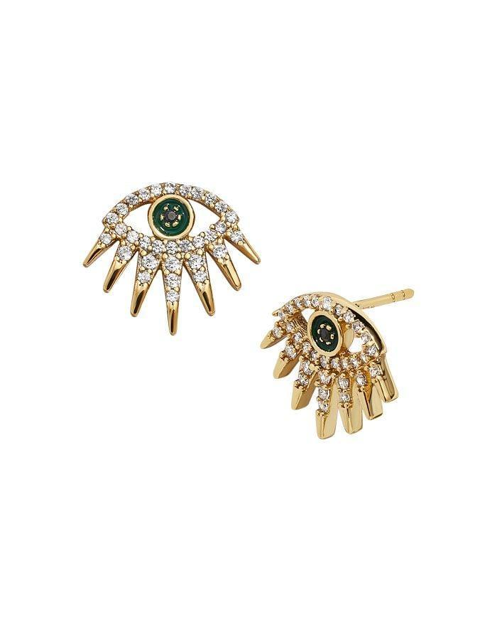 <p>These trendy <span>Baublebar Tali Pavé Eye Stud Earrings</span> ($64) are so fun!</p>