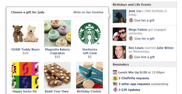 Facebook Gets Generous With New Gifts Feature