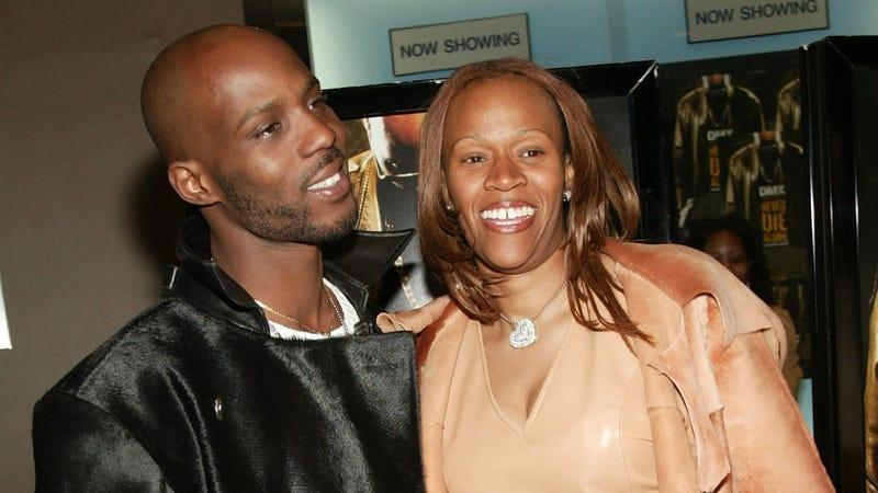 """DMX and Tashera Simmons attend the New York Premiere of """"Never Die Alone"""" on March 24, 2004 in New York City."""