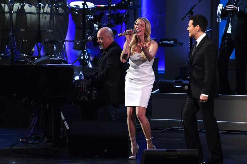 FILE PHOTO: LeAnn Rimes and Michael Feinstein perform with recording artist Billy Joel, the latest recipient of the Gershwin Prize for Popular Song and honored during a tribute concert at DAR Constitution Hall in Washington