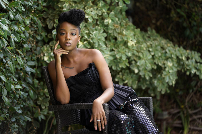 Thuso Mbedu poses for a portrait, Monday, May 10, 2021, in Los Angeles. (AP Photo/Chris Pizzello)