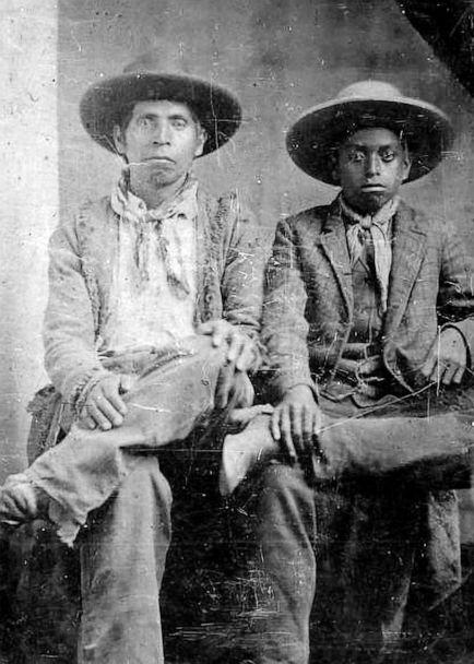 PHOTO: Native American and African-American cowboys, circa 1860-1870. (Buyenlarge/Getty Images, FILE)