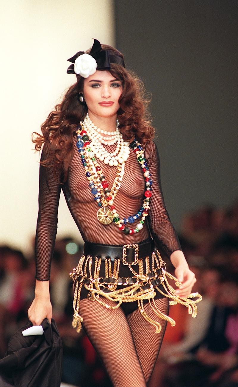 "While full of Chanel's signature chains and pearls, Chanel's spring/summer 1991 collection saw Lagerfeld take inspiration from hip-hop and rap. Needless to say, not everyone approved of his source of inspiration, and criticisms of cultural appropriation soon followed. As usual, though, Lagerfeld stuck to his guns: ""Rappers tell the truth—that's what's needed now,"" he said backstage after the show."