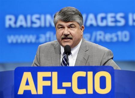 Richard Trumka president of American Federation of Labor-Congress of Industrial Organizations speaks during the the AFL-CIO 2013 Convention in Los Angeles