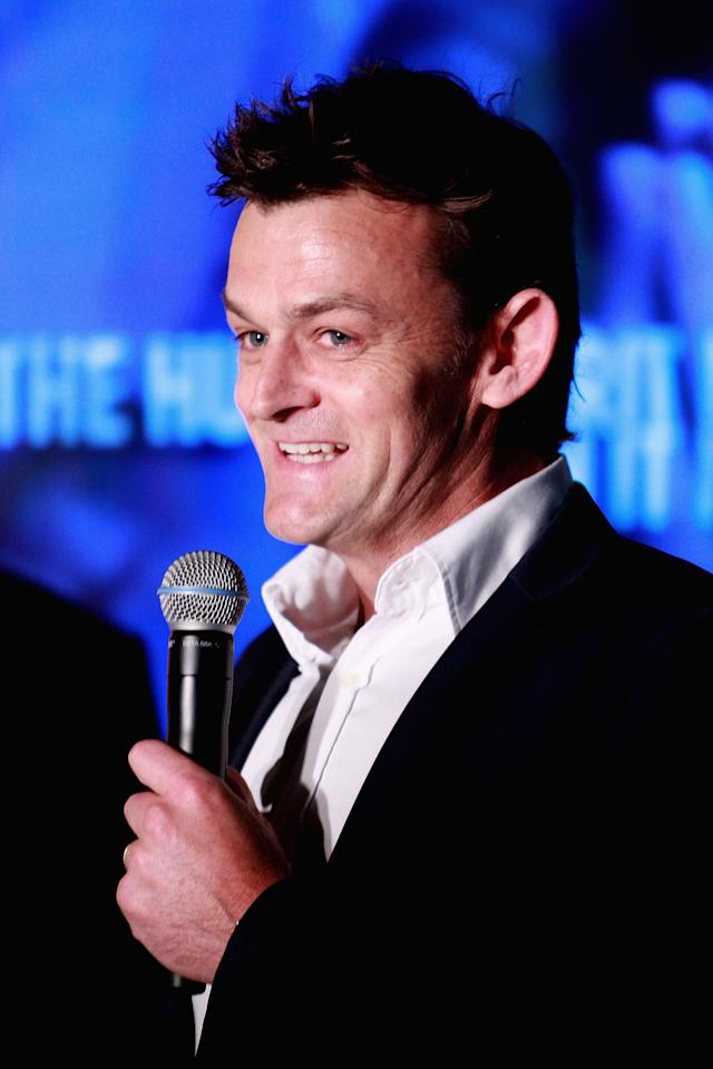 MELBOURNE, AUSTRALIA - OCTOBER 11:  Adam Gilchrist former cricket player speaks to the media during the Sport Australia Hall of Fame Media Opportunity at Melbourne Cricket Ground on October 11, 2012 in Melbourne, Australia.  (Photo by Robert Prezioso/Getty Images)