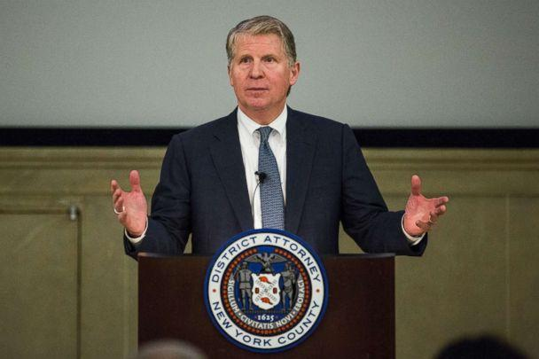 PHOTO: Manhattan District Attorney Cyrus Vance, Jr. speaks at global cyber security symposium at the Federal Reserve Bank of New York, Nov. 18, 2015 in New York City. (Andrew Burton/Getty Images, FILE)