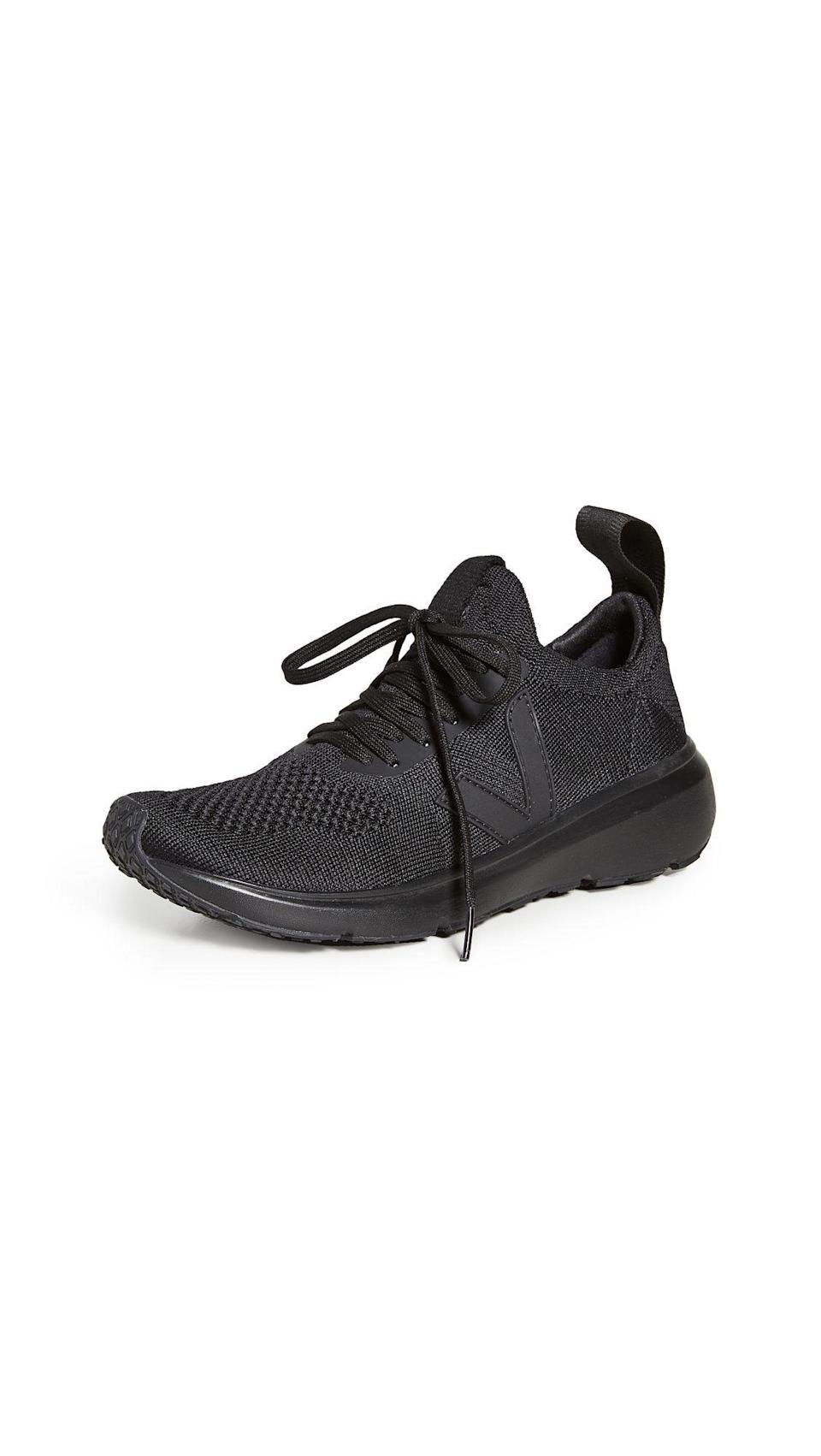 """<p><strong>Veja</strong></p><p>shopbop.com</p><p><a href=""""https://go.redirectingat.com?id=74968X1596630&url=https%3A%2F%2Fwww.shopbop.com%2Frick-owens-running-style-sneakers%2Fvp%2Fv%3D1%2F1501647224.htm&sref=https%3A%2F%2Fwww.elle.com%2Ffashion%2Fshopping%2Fg36080635%2Fshopbop-spring-sale%2F"""" rel=""""nofollow noopener"""" target=""""_blank"""" data-ylk=""""slk:Shop Now"""" class=""""link rapid-noclick-resp"""">Shop Now</a></p><p><strong><del>$203</del> $173 (15% off)</strong></p><p>Originally $290, these running sneakers from Rick Owens' latest collaboration with fair trade, eco-friendly brand Veja are a splurge you can feel good about. The shoes are made from 45 percent bio-based materials with an L-FOAM cushion made from 50 percent Brazilian natural rubber, and a 3D knit made from recycled plastic bottles. </p>"""