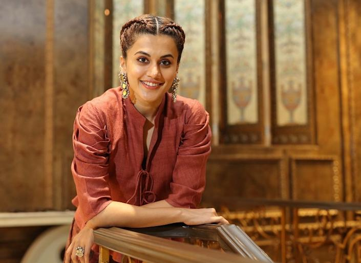 NOIDA, INDIA - SEPTEMBER 7: Bollywood actor Taapsee Pannu poses during an exclusive interview with HT City-Hindustan Times for the promotion of upcoming movie Manmarziyaan, at Radisson Blu, on September 7, 2018 in Noida, India. (Photo by Manoj Verma/Hindustan Times via Getty Images)