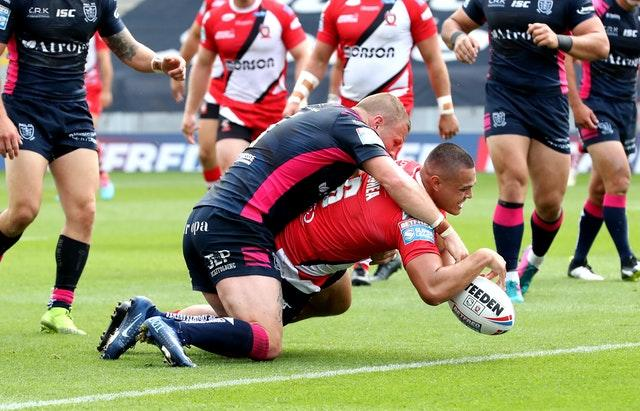 Hull were beaten by Salford in their last outing