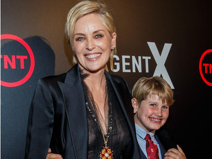sharon stone adopted son laird