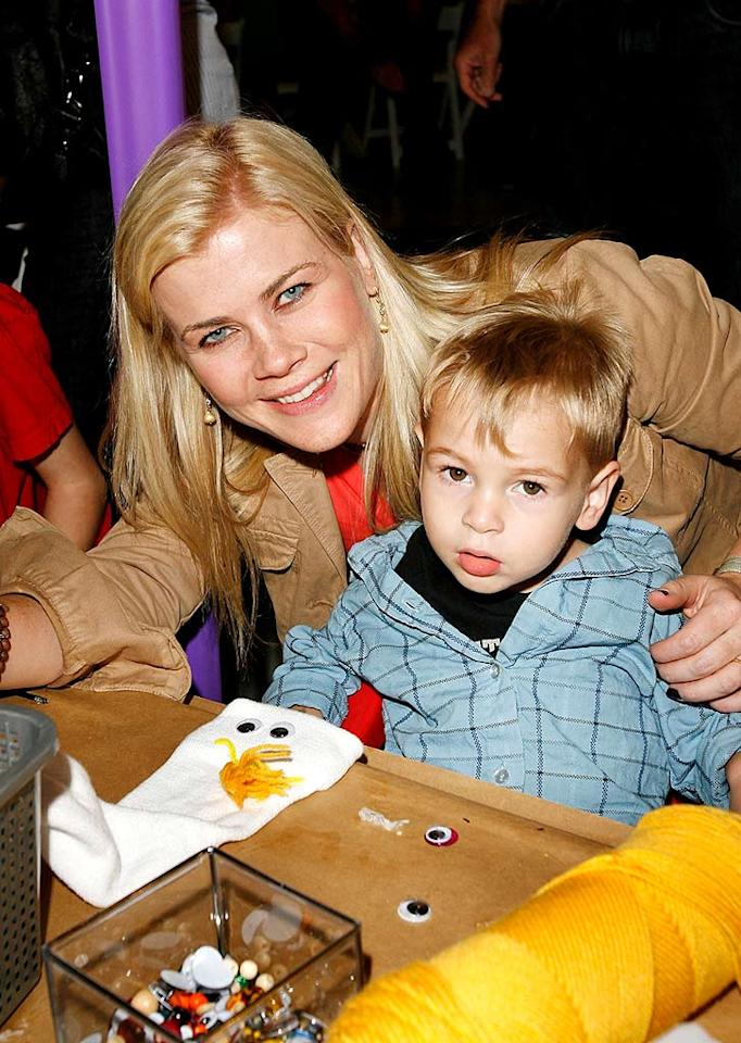 """The Biggest Loser"" host and ""Days of Our Lives"" star Allison Sweeney gets crafty with son Ben. Donato Sardella/<a href=""http://www.wireimage.com"" target=""new"">WireImage.com</a> - November 4, 2007"