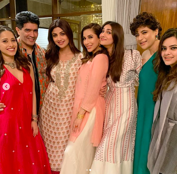 Celebs at a Diwali party