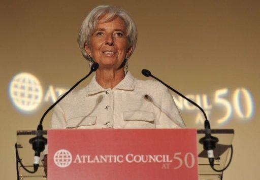 International Monetary Fund chief Christine Lagarde is pictured September 21