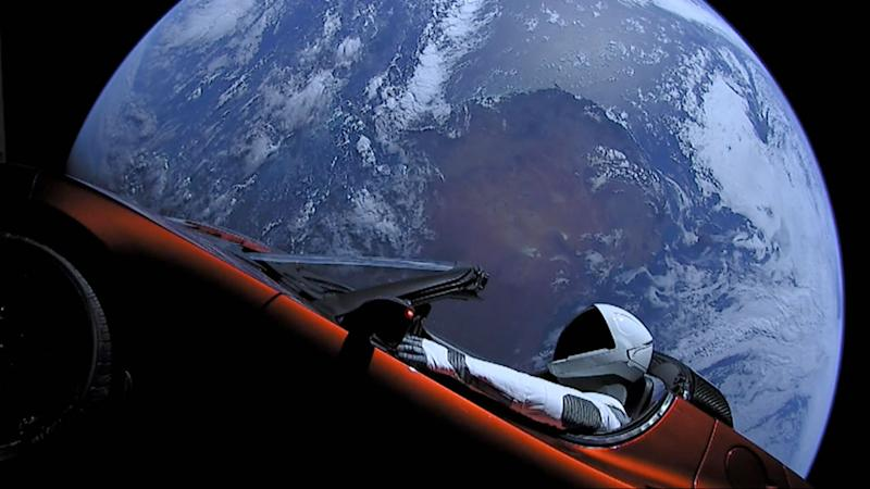 La Roadster di Musk ha percorso un miliardo e 231 milioni di chilometri nei 550 giorni trascorsi dal lancio (Photo by SpaceX via Getty Images)