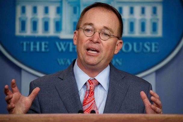 PHOTO: Mick Mulvaney speaks in the White House briefing room in Washington, Oct. 17, 2019. (Evan Vucci/AP, FILE)