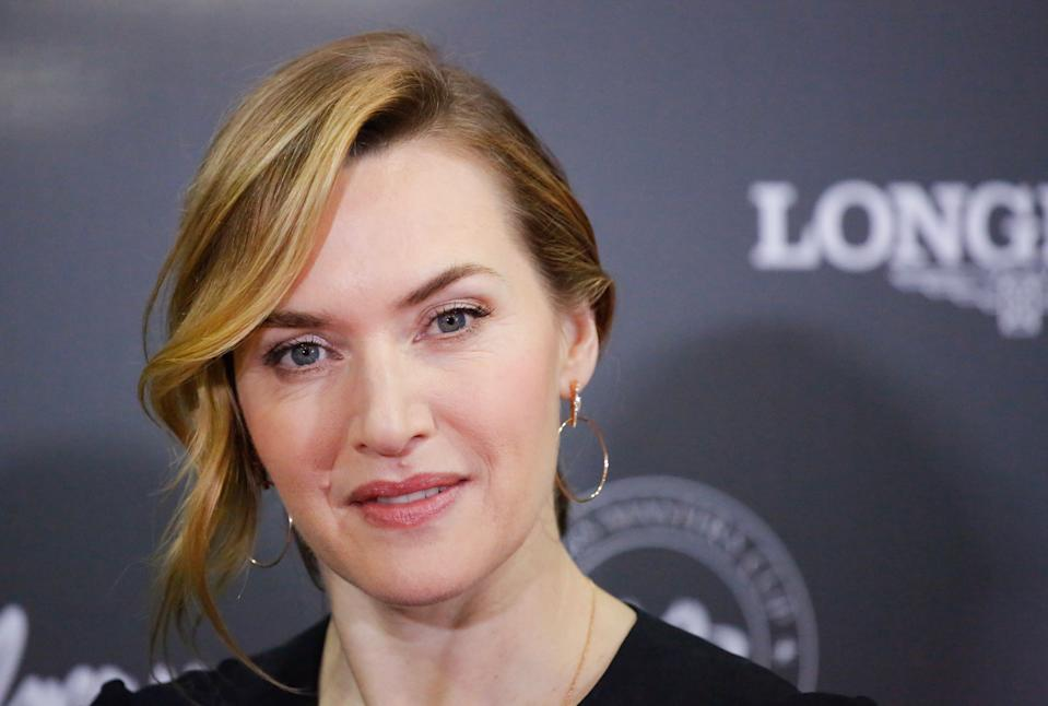 Kate Winslet attends the Longines Masters of New York at Nassau Coliseum on April 27, 2018 in Uniondale New York (Photo by Kena Betancur / AFP)        (Photo credit should read KENA BETANCUR/AFP/Getty Images)