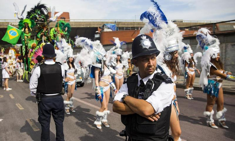 Metropolitan police officers on duty at last year's Notting Hill carnival
