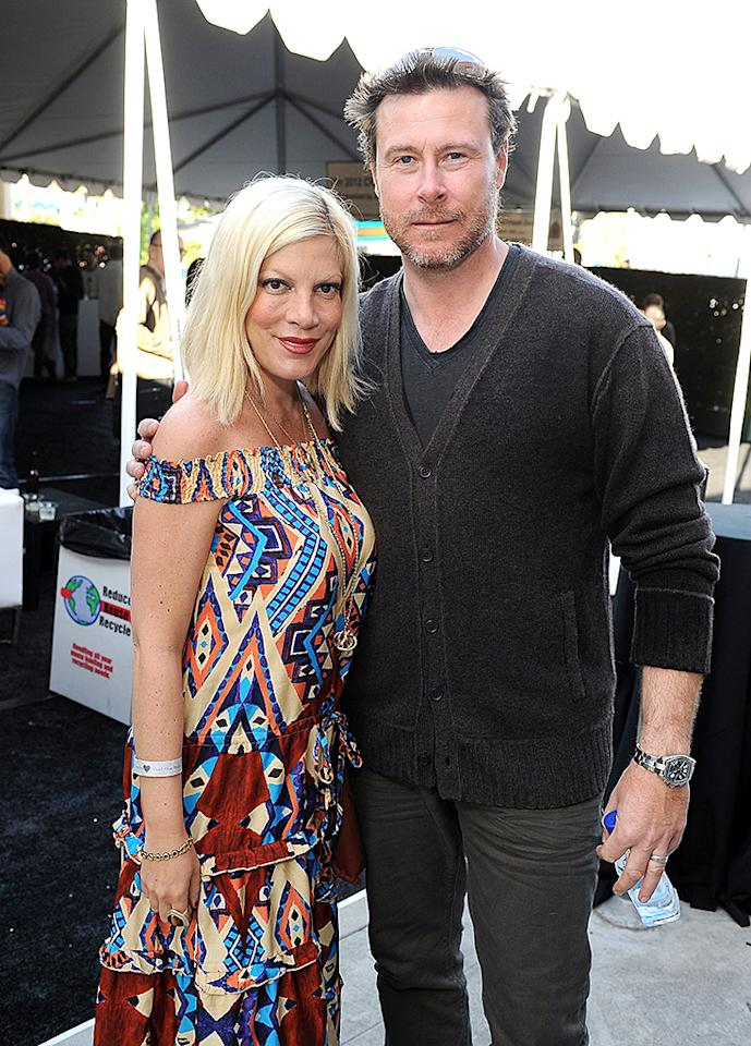 WEST HOLLYWOOD, CA - MARCH 11: Actress Tori Spelling and Dean McDermott attend John Varvatos 9th Annual Stuart House Benefit presented by Chrysler held at John Varvatos Los Angeles on March 11, 2012 in West Hollywood, California.  (Photo by Michael Kovac/Getty Images for John Varvatos)