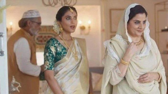 A still from the Tanishq ad which was pulled on Tuesday.