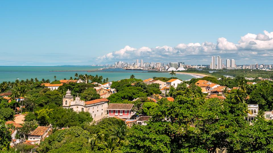Olinda is an amazingly beautiful and brightly colorful town located north from the Recife metropolitan area in Brazil. The region is famous for its paradise beaches and its carnival celebration. The historic center of Olinda was declared a Unesco World Heritage site in 1982.