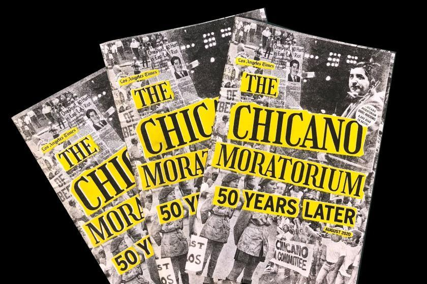 """Most of The Times' series on the 1970 Chicano Moratorium will be collected in a 36-page booklet available as a free download or as a printed zine. <span class=""""copyright"""">(Martina Ibáñez-Baldor / Los Angeles Times)</span>"""