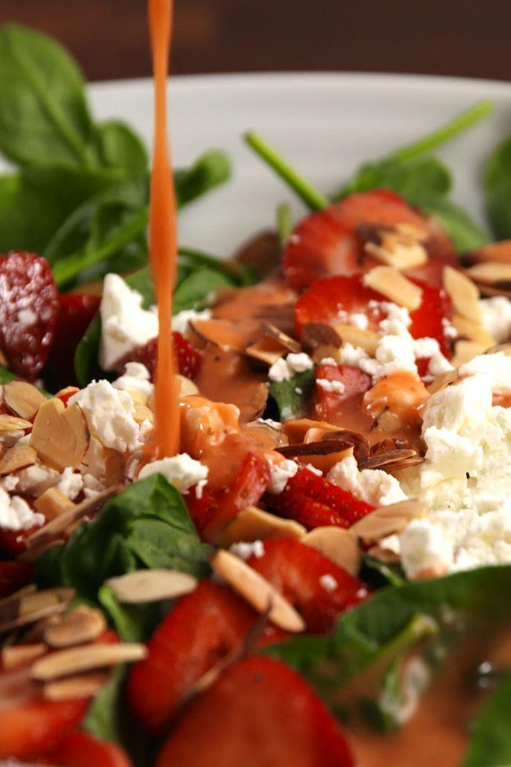 "<p>This recipe makes more than you'll need for the strawberry salad, so save it for salads throughout the week, or use it as a delicious dip!</p><p>Get the recipe from <a href=""https://www.delish.com/cooking/recipe-ideas/recipes/a55039/strawberry-dressing-recipe/"" rel=""nofollow noopener"" target=""_blank"" data-ylk=""slk:Delish"" class=""link rapid-noclick-resp"">Delish</a>.</p>"