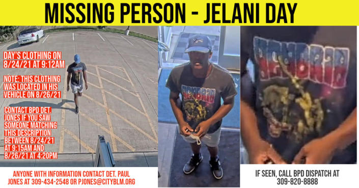 Jelani was seen on security video at a store called Beyond / Hello in Bloomington, at 9:12 a.m. on August 24, 2021.  (Bloomington Police Department)