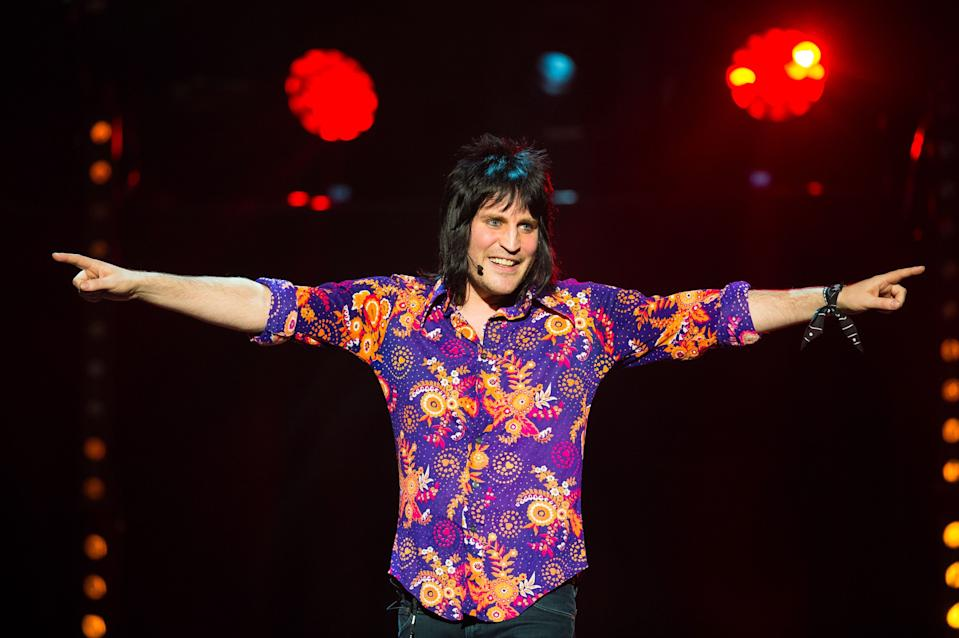 Noel Fielding performs at the Royal Albert Hall, London, in aid of the Teenage Cancer Trust.
