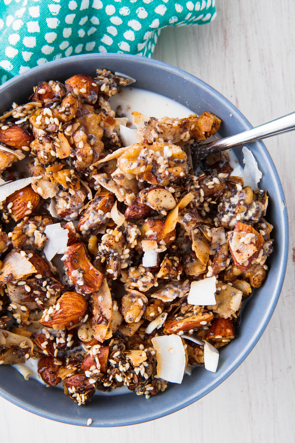 "<p>A big batch makes for an easy breakfast all week long. </p><p>Get the recipe from <a href=""https://www.delish.com/cooking/recipe-ideas/a25238263/keto-cereal-recipe/"" rel=""nofollow noopener"" target=""_blank"" data-ylk=""slk:Delish"" class=""link rapid-noclick-resp"">Delish</a>. </p>"