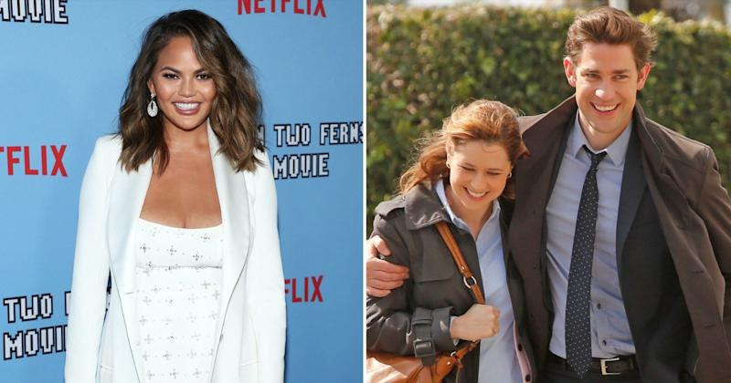 Chrissy Teigen Predicts The Office's Jim and Pam Are Divorced Now, Sends Twitter into a Tailspin