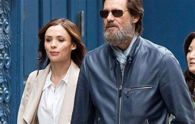 Jim Carrey and Cathriona White. Source: Getty