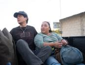 """This image released by Sony Pictures Classics shows Armando Espitia, left, and Michelle Rodriguez in a scene from """"I Carry You With Me."""" (Alejandro Lopez Pineda/Sony Pictures Classics via AP)"""