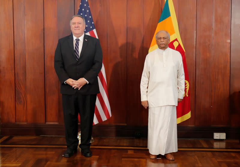U.S. Secretary of State Mike Pompeo visits Sri Lanka