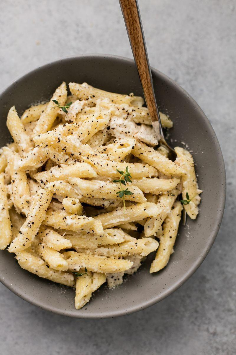 """<p>Penne all day.</p><p>Get the <a href=""""https://www.delish.com/uk/cooking/recipes/a28996537/creamy-garlic-chicken-penne-recipe/"""" rel=""""nofollow noopener"""" target=""""_blank"""" data-ylk=""""slk:Garlic Chicken Penne"""" class=""""link rapid-noclick-resp"""">Garlic Chicken Penne</a> recipe.</p>"""