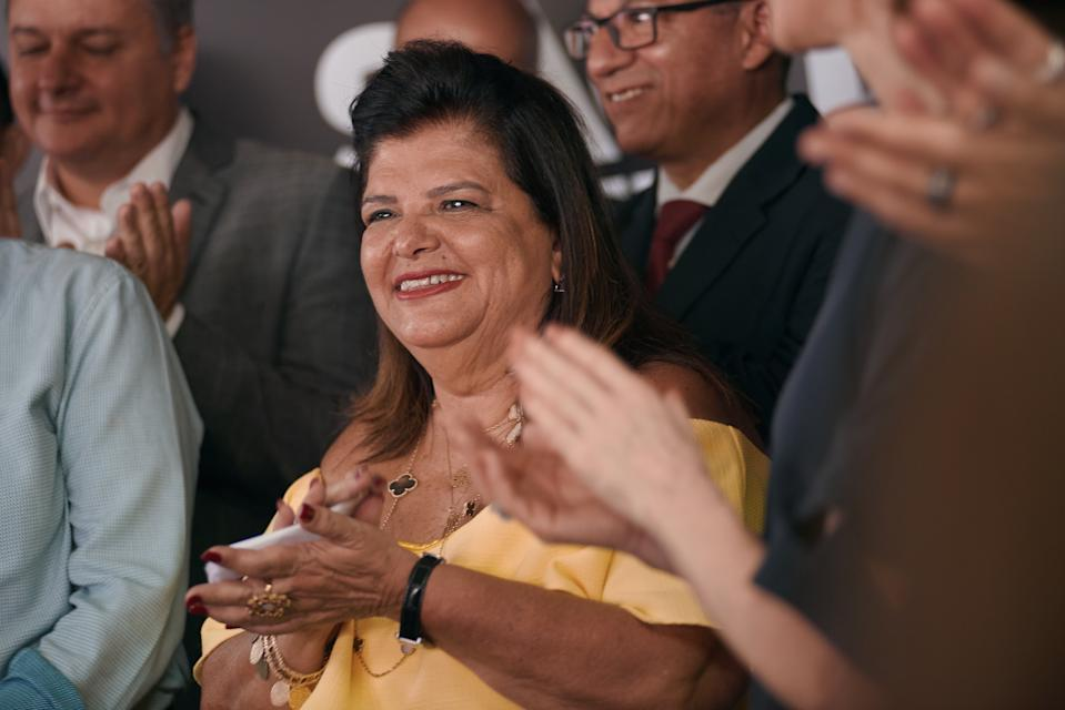 The Chairman of the Magazine Luiza Board, Luiza Helena Trajano, during the inauguration of the Defense Police Station and the Women's Reference Center in Franca, Sao Paulo, Brazil, on 26 November 2019. (Photo by Igor Do Vale/NurPhoto via Getty Images)