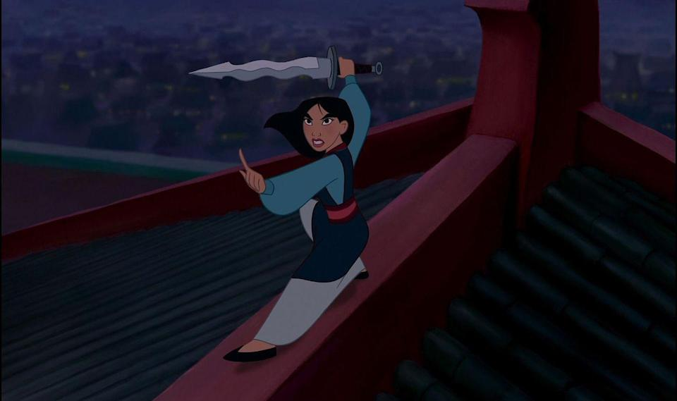 """<p>If you don't love <em>Mulan</em>, dishonor on your whole family, dishonor on you, and most importantly, <a href=""""https://www.youtube.com/watch?v=ppobDZeSJ9Q"""" rel=""""nofollow noopener"""" target=""""_blank"""" data-ylk=""""slk:dishonor on your cow"""" class=""""link rapid-noclick-resp"""">dishonor on your cow</a>. The movie was feminist AF way before movies got twitter cred for being so, thanks to a heroine who literally saved all of China. Plus, """"I'll Make a Man Out of You"""" is still the perfect song to play as you struggle to do cardio for more than 5 minutes.</p>"""