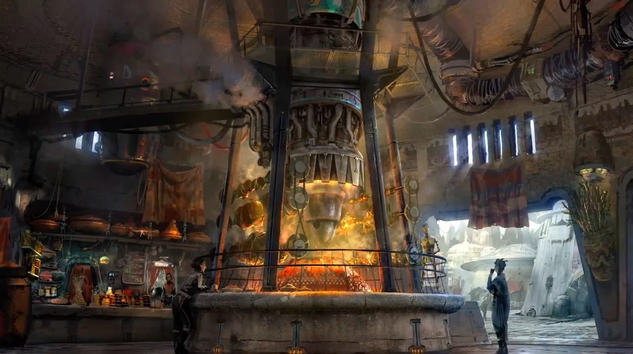 <p>Lucasfilm and Disney's Imagineers teamed up to design the world, which will be part of the <i>Star Wars</i> canon, with a location on the official galactic map. (Credit: Disney Parks/Lucasfilm) </p>