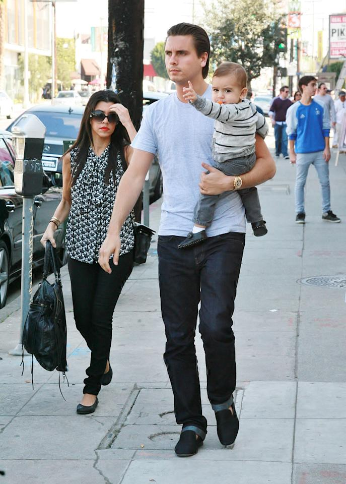 """The 31-year-old and her little family could have gone to a less popular lunch spot, but being subtle is not exactly the Kardashians' style. <a href=""""http://www.infdaily.com"""" target=""""new"""">INFDaily.com</a> - January 29, 2011"""
