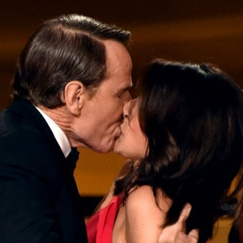 Bryan Cranston and Julia Louis-Dreyfus going for it at the Emmys in 2014 (Photo: Emmys)