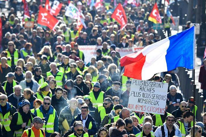 'Yellow vest' protests began in November in rural areas and spread across the country, with riots in Paris (AFP Photo/GERARD JULIEN)