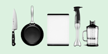 <p>With a change to your diet, comes a change in your kitchen. If you're switching up your meals by going meat-free, you might be missing some essential kitchen tools to help you make the transition. And even if you've already adapted this new eating regime, there's still probably a few tools that you never knew could be so helpful in cooking up your daily breakfast, lunch and dinner.<em> Good Housekeeping</em> compiled some of our favorite kitchen essentials, from chef's knives and vegetable peelers, to air fryers and cast-iron skillets, to give you all the tools you need to make that switch to a meat-free diet. Check out the top picks below. </p>